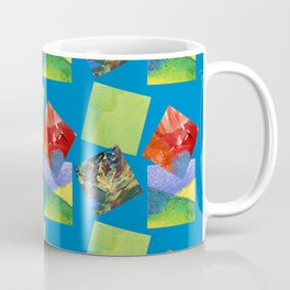 Painted Squares Jiggle - Blue Coffee Mug