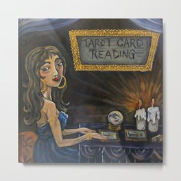 Tia the Tarot Card Reader Metal Print