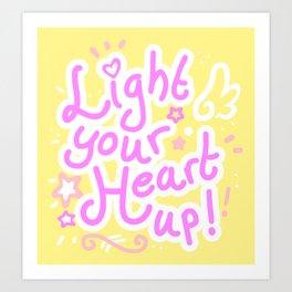 Light your heart up! Art Print
