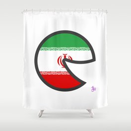 Iran Smile Shower Curtain
