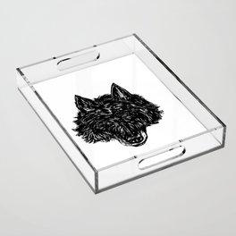 Wolf's Head Acrylic Tray