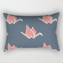 Petite Origami Cranes Rectangular Pillow