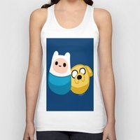 finn and jake Tank Tops featuring  Finn and Jake by Mayying