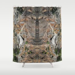 Granite Quarry Refection Abstract #2 Shower Curtain