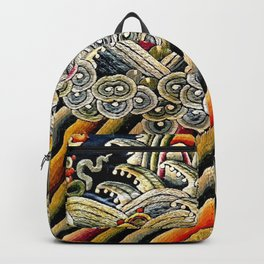 Embroidery-Waves Backpack