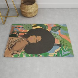 Afro woman  Rug
