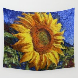 Sunflower In Van Gogh Style Wall Tapestry