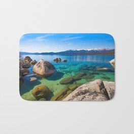 Let's Jump In At Sand Harbor, Lake Tahoe Bath Mat