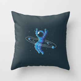 Space Hula Hoop Throw Pillow