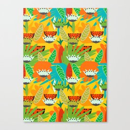 Watermelons and carrots Canvas Print