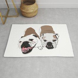 Two English Bulldogs Rug
