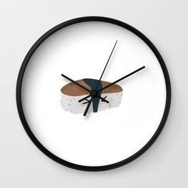 Sushi with rice and mushroom Wall Clock