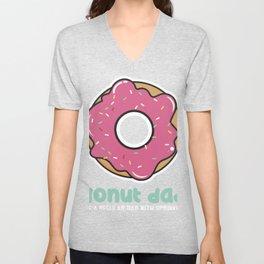 Donut Dad print, Doughnut Dad Tee, Dad product Unisex V-Neck