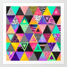 Quirky Triangles Art Print