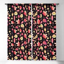 Watercolor Autumn Pattern Blackout Curtain
