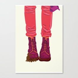 """From """"Tuesday 13"""" Bad Luck Series: Dirty boots Canvas Print"""