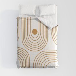 Lines and Circles in Goldenrod Comforters