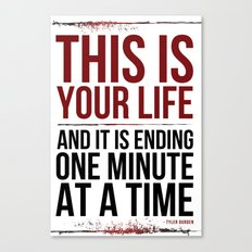 Fight Club - This is Your Life... Canvas Print