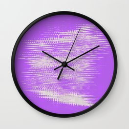 White foggy clouds hovering over the purple background Wall Clock