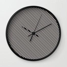 Beautiful Pattern #20 Diagonal Lines Wall Clock
