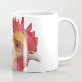 Brown Rooster Head Lowpoly Art Illustration Coffee Mug