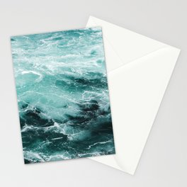 Water Photography | Sea | Ocean | Pattern | Abstract | Digital | Turquoise | Beach Stationery Cards
