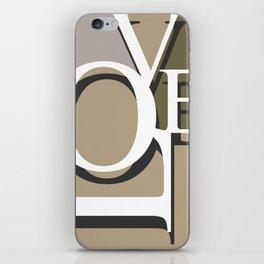 Love Typo #society6 #decor #buyart iPhone Skin