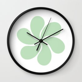 Light Green Paisley Round Floral Pattern Wall Clock