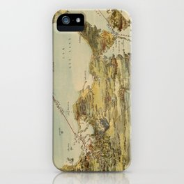 Vintage Cape Cod and NYC Steamboat Route Map iPhone Case
