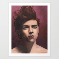 Painted Harry Art Print
