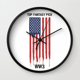 Top Fantasy Pick WW3 Wall Clock