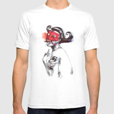 The Demon Queen White MEDIUM Mens Fitted Tee