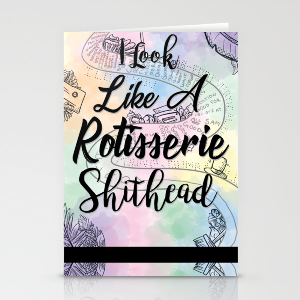Rotisserie Sh*thead Stationery Cards by Jennpetersen CRD9017333