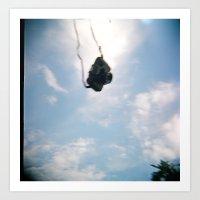 Flying Holga Camera Art Print