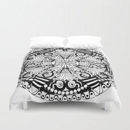 Mandala Monochrome Duvet Cover