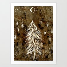 Dawn In A Burning Forest Art Print