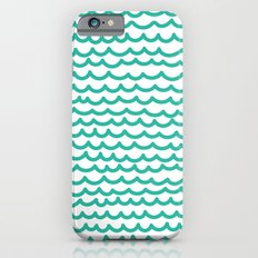 Squiggly Hand Drawn Lines in Mint  Slim Case iPhone 6s