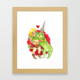 He-Man Hug Framed Art Print