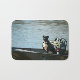 Dog Gone Fishing Bath Mat