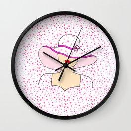Fashion Portrait Wall Clock