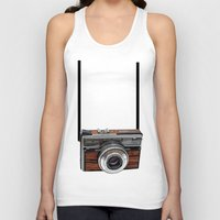 cameras Tank Tops featuring Vintage cameras by Tish