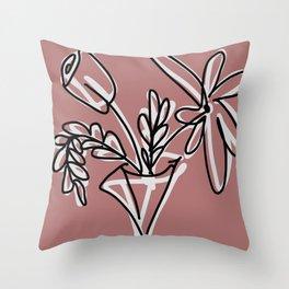 Bouquet I Throw Pillow