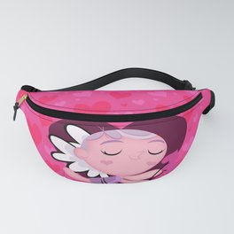happy cupid in love Fanny Pack