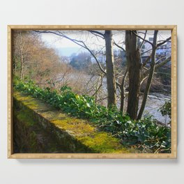 Walk on the River Bank Serving Tray