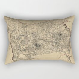 Map Of Azerbaijan 1855 Rectangular Pillow