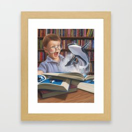 Where Books Come to Life Framed Art Print