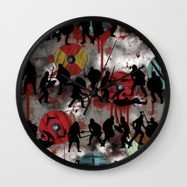 For Valhalla, digital painting Wall Clock