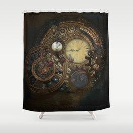 Steampunk Clocks Shower Curtain