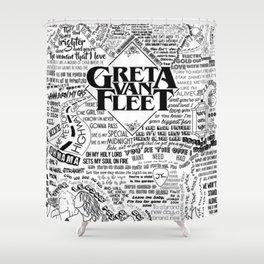 Greta Van Fleet Shower Curtain