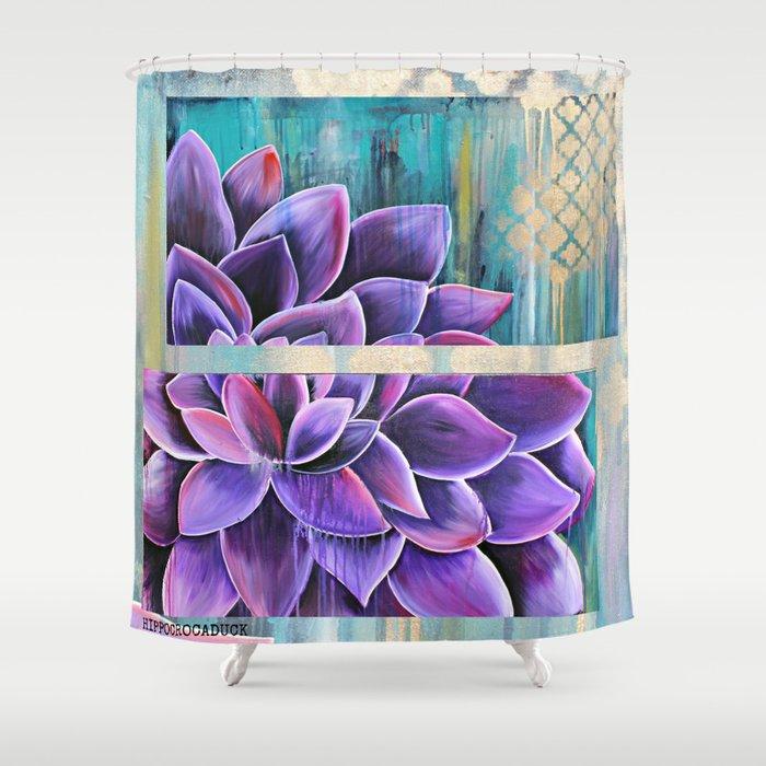 DAHLIA Shower Curtain By Hippocrocaduck